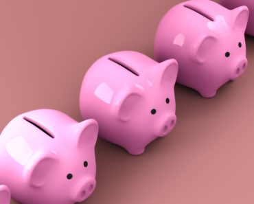 A row of piggy banks