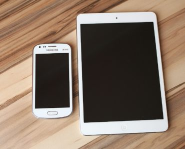 A Samsung mobile phone and tablet device