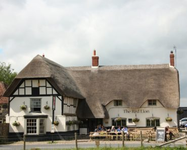A thatched country pub