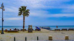 Larnaka promenade in Cyprus