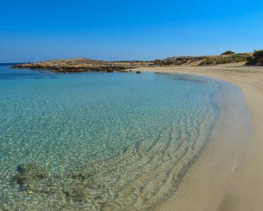 A sandy beach in Cyprus