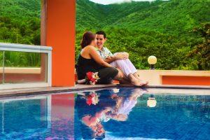 A happy couple on honeymoon