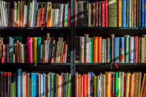 Books in a book shop