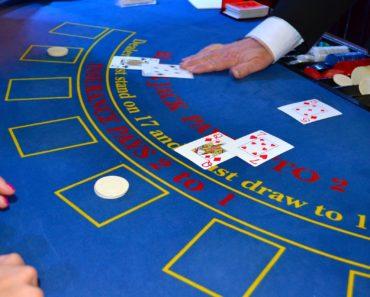 A Croupier dealing cards