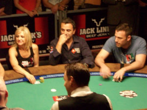 Ben Affleck at the World Celebrity poker tournament