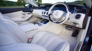 Interior of a new Mercedes car