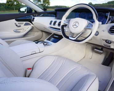 Interior of a new Mercedes car