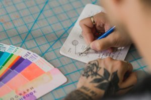 Designing a brand from colour swatches
