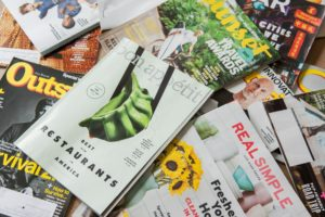 Printed brochures an magazines