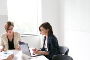 Women in a business meeting