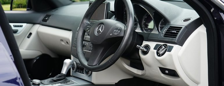 The interior of a Mercedes Benz
