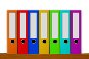 Colourful office files