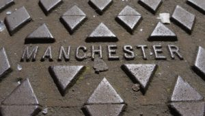 A Manchester man hole cover