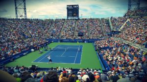 A professional tennis tournament