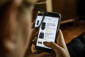 Shopping online with a smartphone