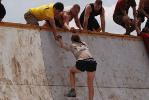 A team mud run challenge