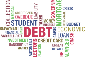 A debt and loans graphic