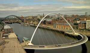 A Newcastle city scape by the River Tyne