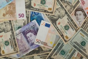 A variety of foreign currency notes