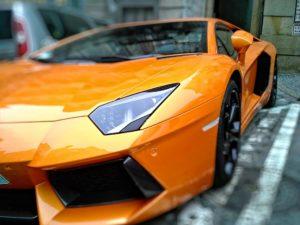 A Lamborghini supercar