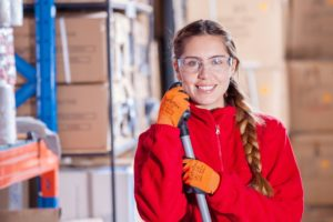 A female industrial worker