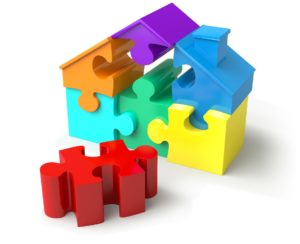A missing piece in a house puzzle