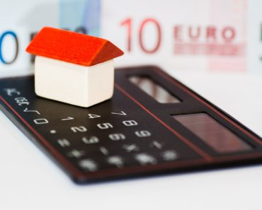 A mortgage concept with a calculator