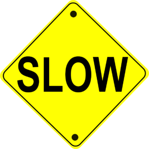 A slow warning sign