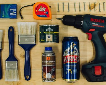 A DIY toolkit incluiding a can of beer!