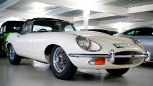 Jaguar E-type classic car