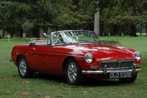 An MG classic car
