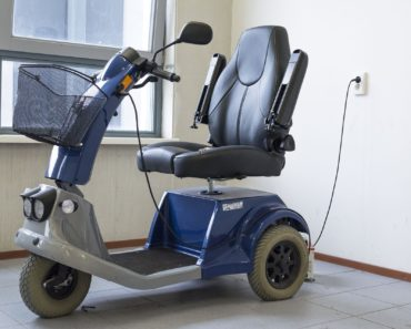 A mobility scooter