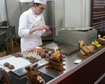 A Chocolatier making chocolates