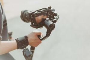 A DSLR video camera