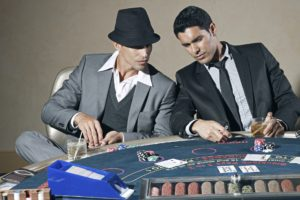 Two gamblers in a casino