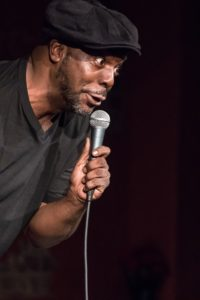 A comedian on stage
