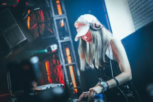 A female DJ
