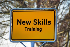 A sign for new skills and training