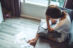 A woman in despair